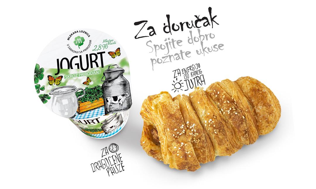 jogurt i pecivo za mobilni